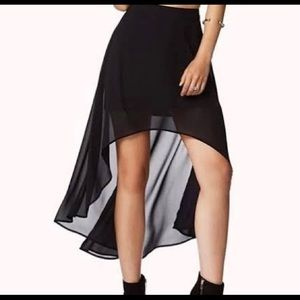 High/low forever 21 skirt